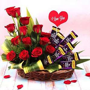 Valentine Flowers-N-Chocolates