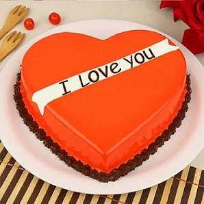 Valentine Heart Shape Cake