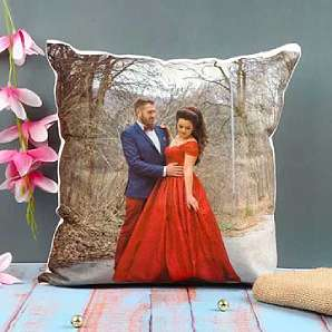 Valentine Flowers in Personalised Cushion
