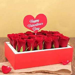 Valentine Flowers in Signature Box