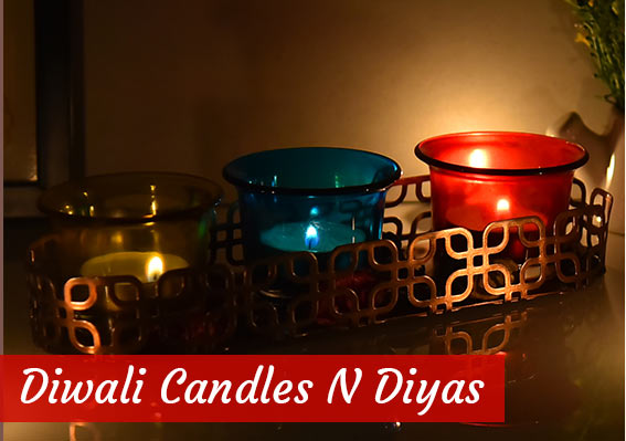 Diwali Candle and Diyas