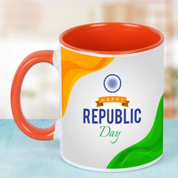 Happy Republic Day Printed Coffee Mug