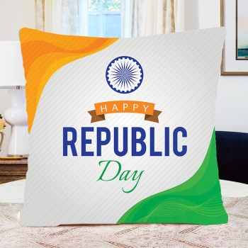 Happy Republic Day Printed Cushion