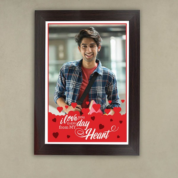 A4 Size Personalized Frame with a Lovely Message for Boyfriend