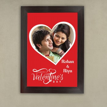 Heart Design A4 Size Photo Frame for Valentines Day