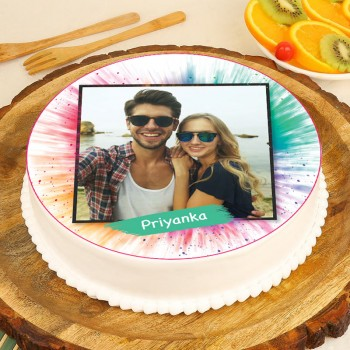 Personalized Holi Cake