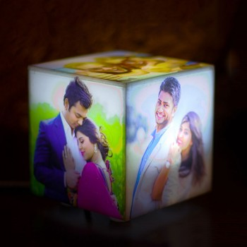 Personalised Mini Cube Table Lamp