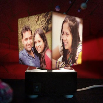 Personalised Rotating Mini Cube Lamp