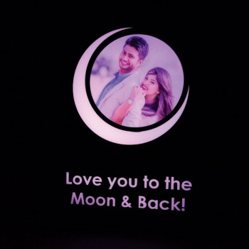 Personalised Love Quote Photo Lamp