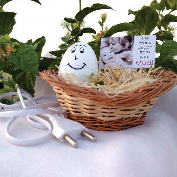 Personalised Egg Shape Lamp