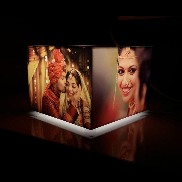 Personalised Rectangle Table Lamp