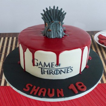 1.5 Kg Games Of Throne Theme Chocolate Fondant Cake