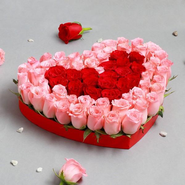 Flowers in Heart Shape
