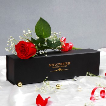 Single Red Rose in a MFT Black Luxury Box