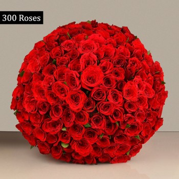 300 Red roses Bouquet
