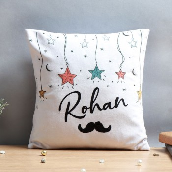 One Personalised Name Cushion for Him