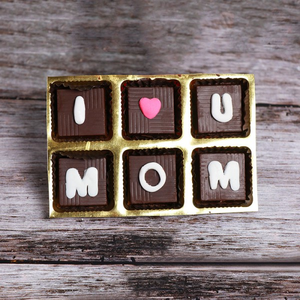 Pack of 6 pcs Homemade Chocolate for Mom