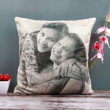 One Personalised Sketch Art Cushion For Mom