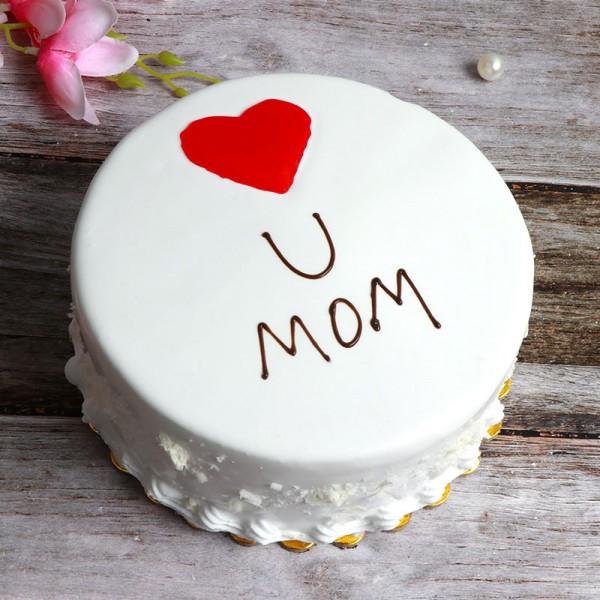 Half Kg Pineapple Designer Cake for Mom