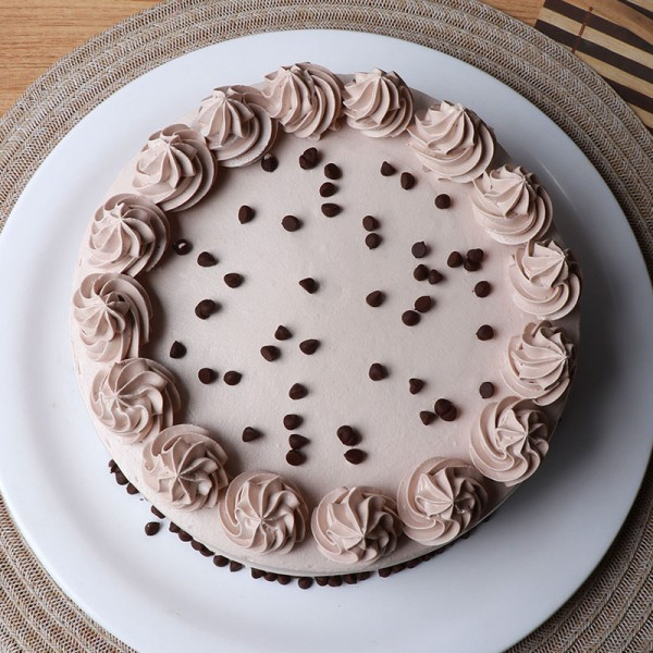 Coffee Cream Round Shape Cake