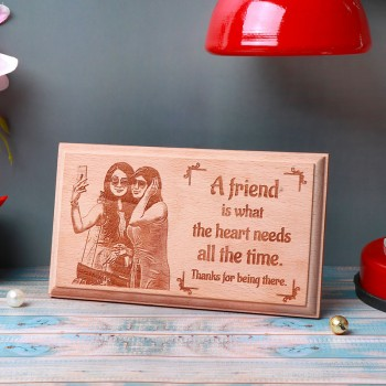 One Personalized Wooden Engraved Frame For Friend