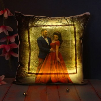 One Personalised Photo LED Cushion