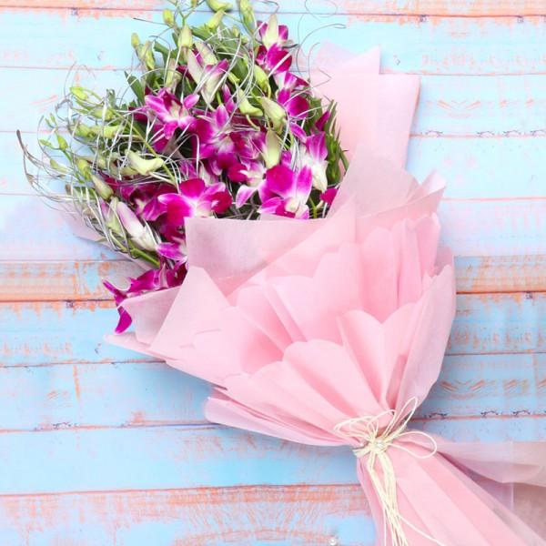 Purple Orchids Bunch