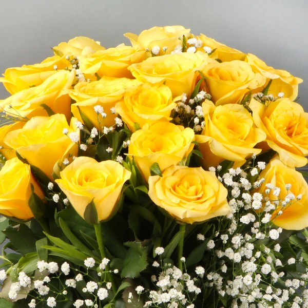 Yellow Roses Vase Arrangement
