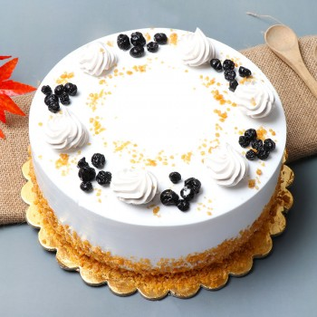 Half Kg Butterscotch Blueberry Cake