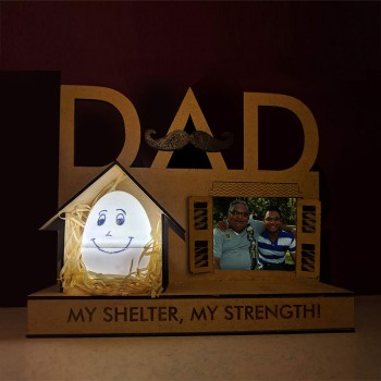 One Personalised Photo Lamp for DAD