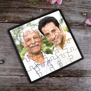 One Personalised Square Puzzle For DAD