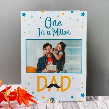 One Personalised Greeting Card For DAD