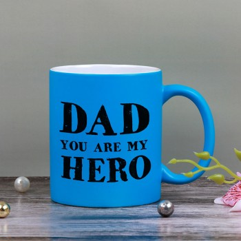 Blue Neon Mug for Dad