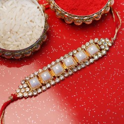 Equisite Pearl Rakhi
