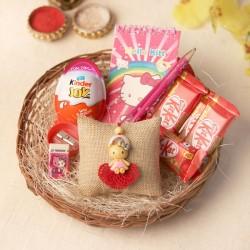 The Hello Kitty rakhi for girls