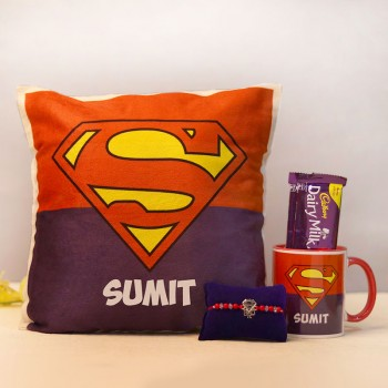 Personalised SuperMan Rakhi Gift