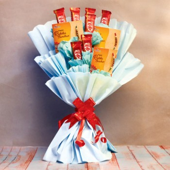 KitKat Chocolate Bouquet with Rakhis