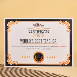 Worlds Best Teacher Certificate