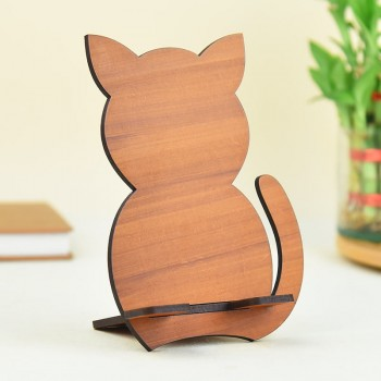Wooden Kitty Mobile Holder with Bournville Chocolate