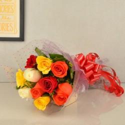 10 Mixed Roses
