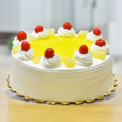 1/2 Kg Eggless Pineapple Cake