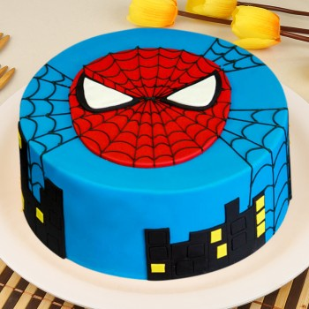 1 Kg Chocolate Fondant Spiderman Designer Cake