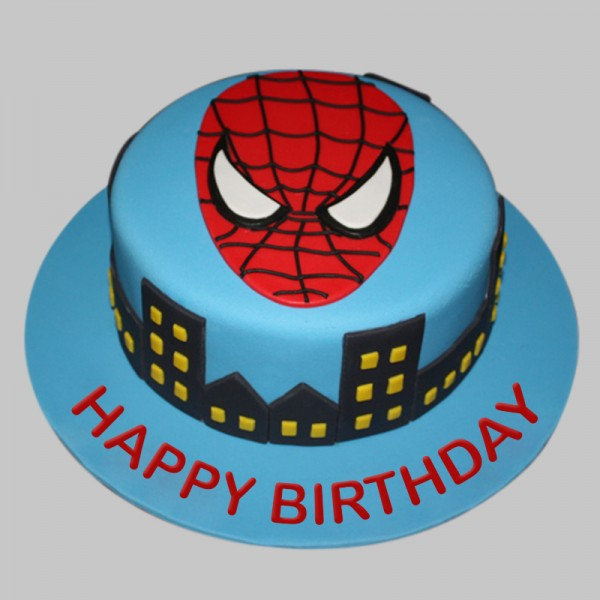 Remarkable Spiderman Cake Myflowertree Personalised Birthday Cards Paralily Jamesorg