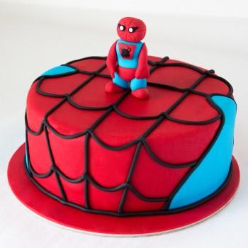 1 Kg Chocolate Fondant Spiderman Cake