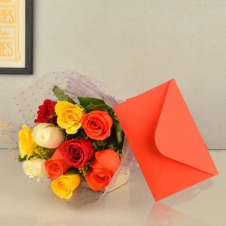 Mixed Roses n Greeting Card