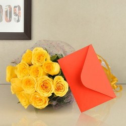 Yellow Roses n Greeting Card