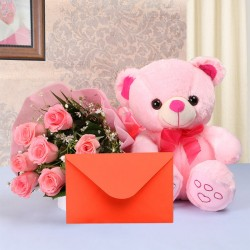 Pink Roses Surprise