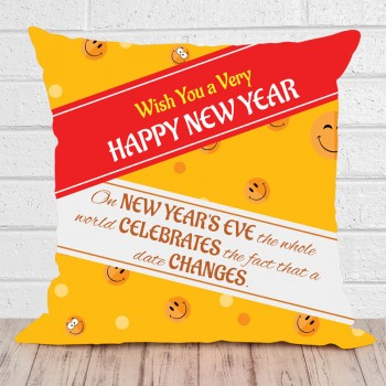 Happy New Year Printed Cushion