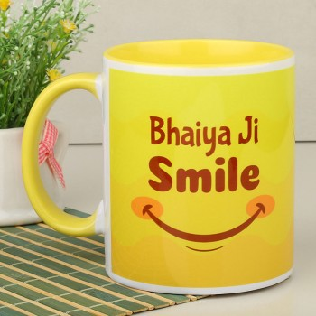 Bhaiya Ji Smile Printed Coffee Mug
