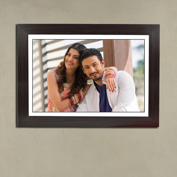 Personalised Black Portrait Frame for Couple